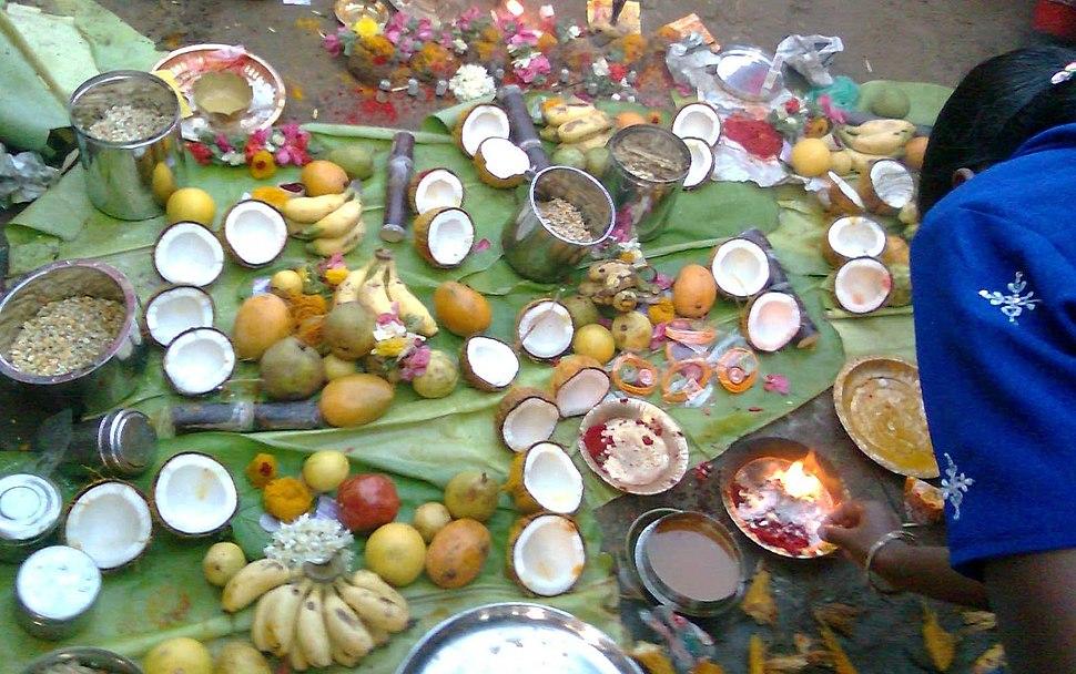 River Kaveri worship Tiruchirappalli