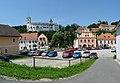 Rožmberk nad Vltavou, hrad a náměstí od jihu 01.jpg