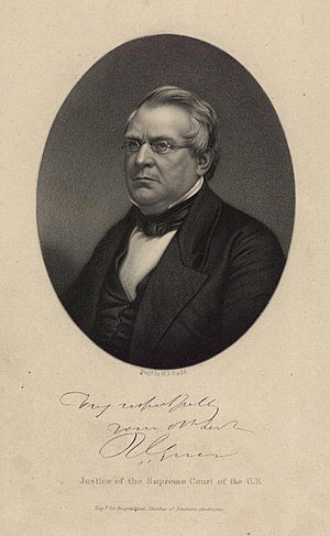 Robert Cooper Grier - Engraving of Robert Cooper Grier while serving as Justice of the Supreme Court