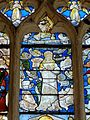 Roberval (60), église Saint-Remy, croisillon sud, verrière n° 6, 2e régistre, milieu - Litanies de la Vierge.JPG