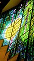"""Robinson College Chapel choir Piper stained glass window, """"Light of the World"""" (4766897767).jpg"""