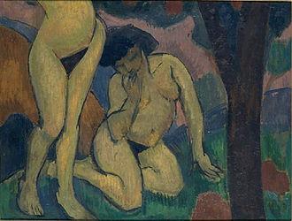 Roger de La Fresnaye - Image: Roger de La Fresnaye, 1910, Deux nus dans un paysage, oil on canvas, 59 x 74 cm, MNAM, Centre Pompidou, Paris