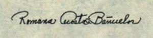 Romana Acosta Bañuelos - Bañuelos's signature as used on American currency