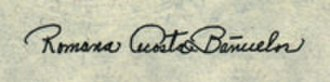 Romana Acosta Bañuelos - Bañuelos's signature as used on American currency