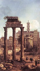 Canaletto: Rome: Ruins of the Forum, Looking towards the Capitol