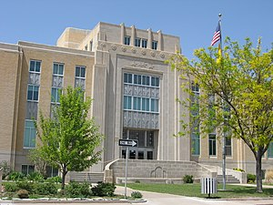 Portales, New Mexico - Roosevelt County Courthouse in Portales