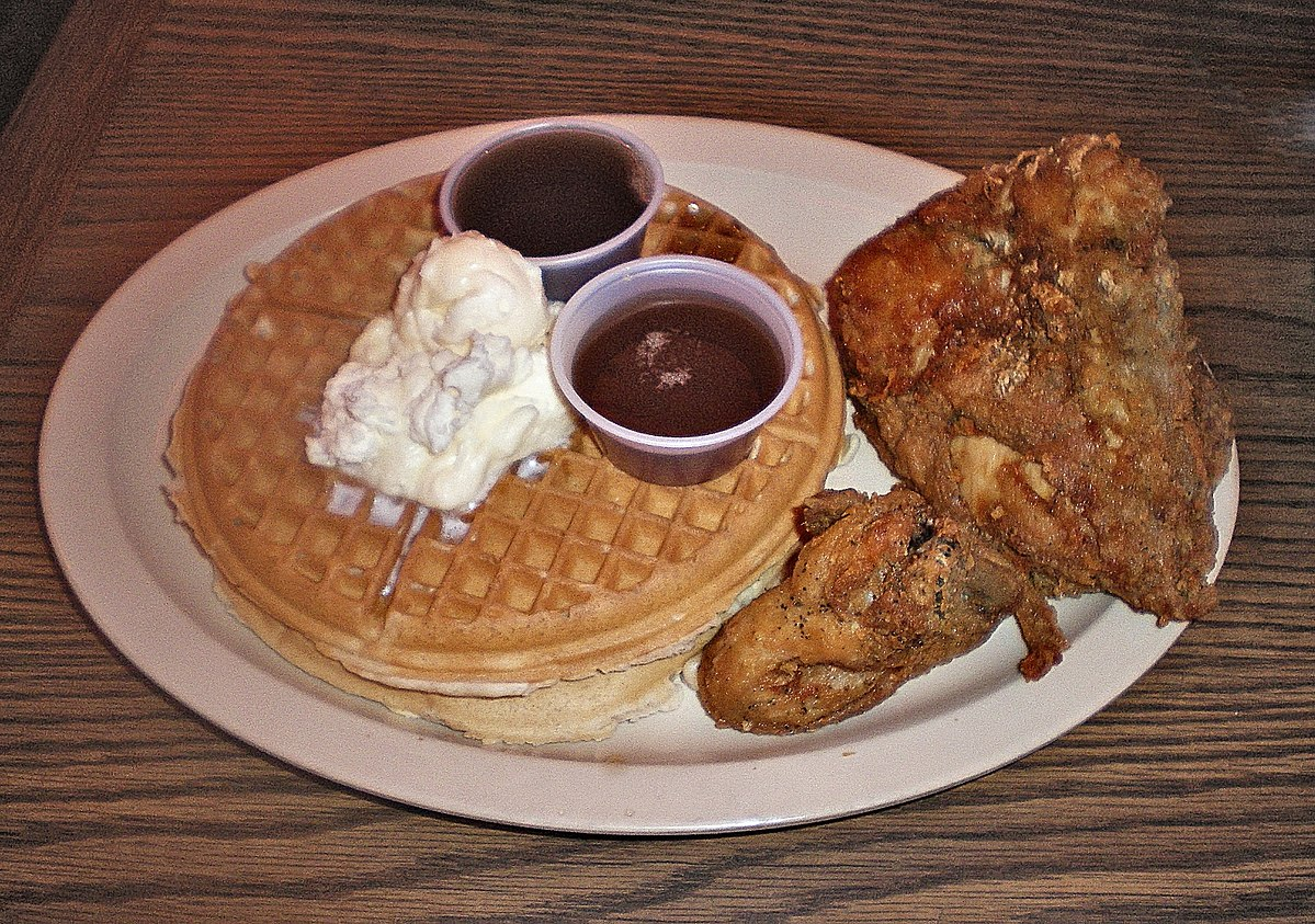 Roscoe's Waffles and Chicken.JPG