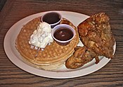 http://en.wikipedia.org/wiki/File:Roscoe's_Waffles_and_Chicken.JPG