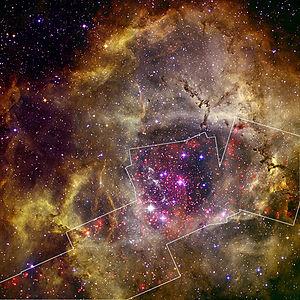 Rosette Nebula - Image: Rosette X ray and Optical