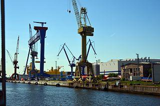 Rostock Port Seaport in Germany