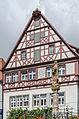 Rothenburg ob der Tauber, Kapellenplatz, Brunnen, Ansicht von Süden-20140819-002.jpg