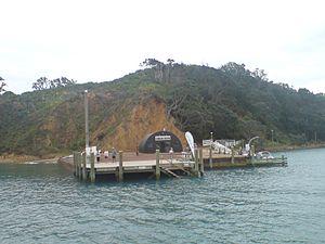 Rotoroa Island - The local ferry wharf