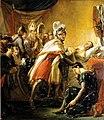 Rouget - Mort de saint Louis devant Tunis au milieu des princes français et des envoyés de l'empereur de Constantinople Baudoin II le 25 aout 1270.jpg
