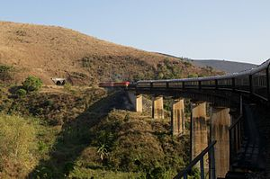 Rovos Rail - Entering a tunnel on the TAZARA line in southern Tanzania