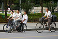 Rowerzyści na ulicy Szanghaju 20090725 1814.jpg