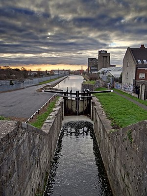 Royal Canal - The Royal Canal as it enters Dublin city centre