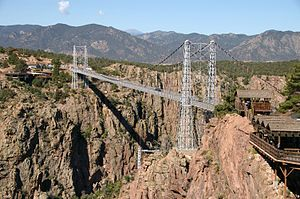English: The Royal Gorge Bridge, from the nort...