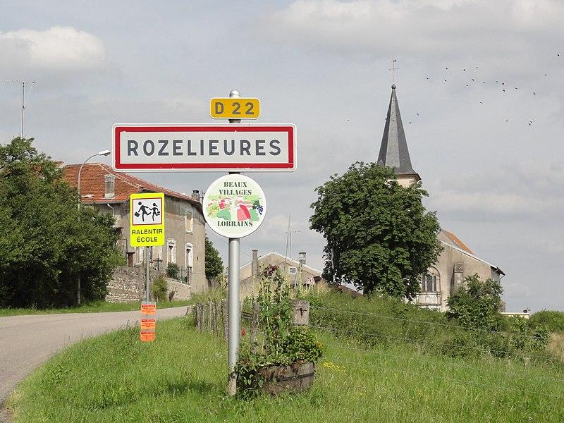Rozelieures (M-et-M) city limit sign D22