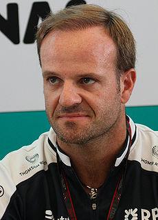 Rubens Barrichello Brazilian racing driver