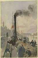Rudolf von Alt An Bord des Donaudampfers Maria Anna 1837.jpg