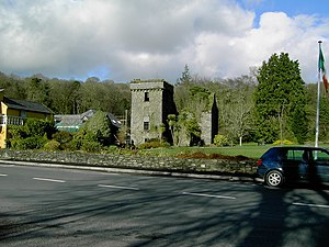 Ballyvourney - Ruin of former Colthurst residence, The Mills Inn, Ballyvourney