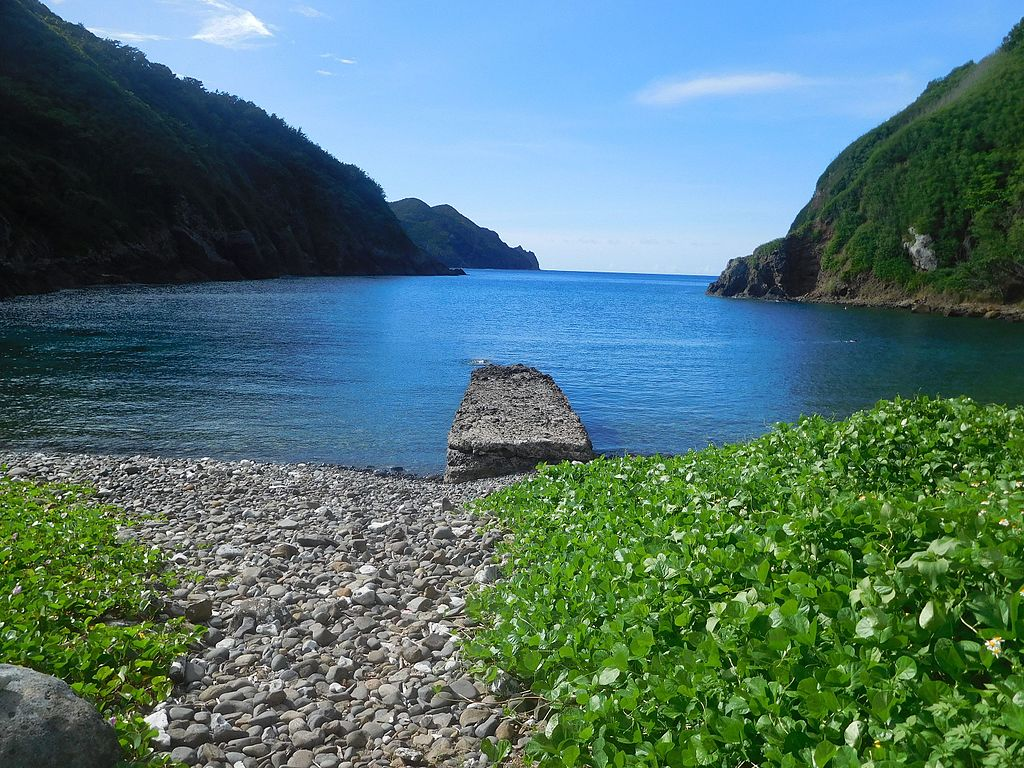 Ruins of the north port at Hahajima