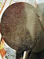 Rundes Waffeleisen von 1618 mit Schloss und Wappen Rapperswil - Stadtmuseum Rapperswil 2013-02-02 16-35-08 (P7700).JPG