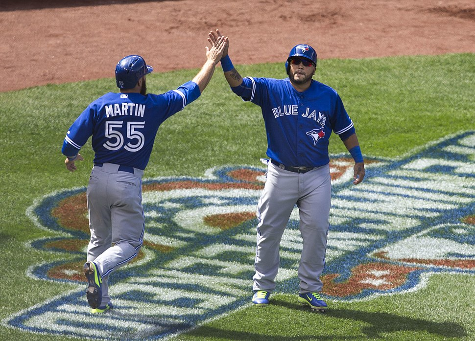 Russell Martin and Dioner Navarro