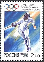 Russia stamp no. 610 - 2000 Summer Olympics.jpg