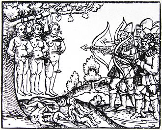 Livonian War - Russian atrocities in Livonia. Printed in Zeyttung published in Nuremberg in 1561.