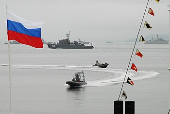 English: Russian naval forces prepare to come ...
