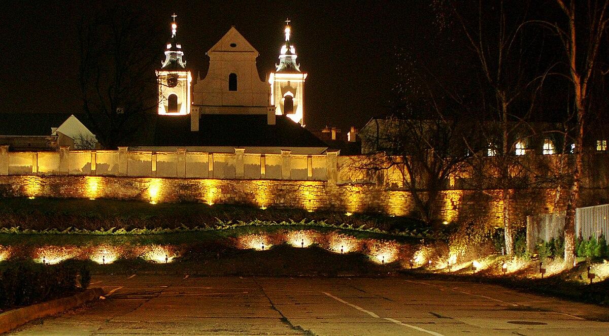 Rzeszów Rzeszow Holy Cross Church City Wall Kościół Świętego Krzyża Mury Miejskie.jpg
