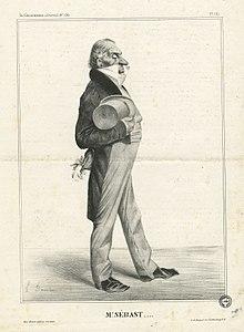 Horace Sébastiani ritratto da Honoré Daumier.