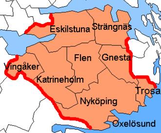 Södermanland County - Image: Södermanland County