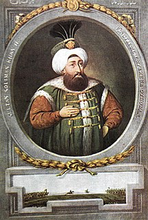 Suleiman II Sultan of the Ottoman Empire from 1687 to 1691