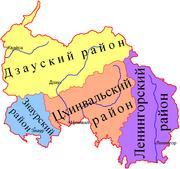 Dél-Oszétia körzetei