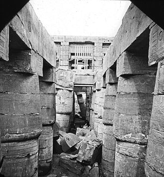 Karnak - Great hall, Karnak. Brooklyn Museum Archives, Goodyear Archival Collection