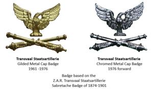 Transvaalse Staatsartillerie - Transvaal Staatsartillerie cap badges