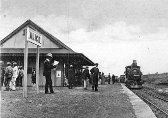 Alice, Eastern Cape - Alice railway station, c. 1900
