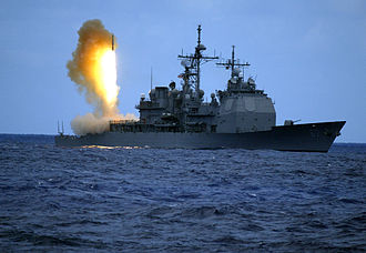 Space weapon - The Aegis Ballistic Missile Defense System. A RIM-161 Standard Missile 3 anti-ballistic missile is launched from USS Shiloh, a US Navy Ticonderoga-class cruiser.