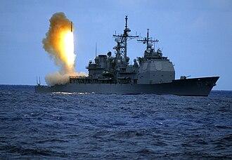 RIM-161 Standard Missile 3 - Image: SM 3 launch USS Shiloh 20060622