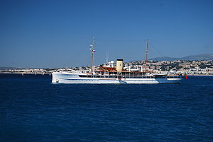 SS Delphine off the French Riviera, July 2008.