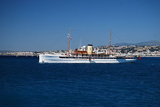SS Delphine (1921) - SS Delphine off the French Riviera, July 2008.