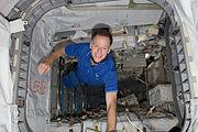 STS-135 Chris Ferguson in the Raffaello MPLM