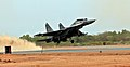 SU-30 MkI aircraft took off from the Thanjavur Air Force Station shortly after the Defence Minister, Shri A. K. Antony dedicated it to the Nation on May 27, 2013.jpg