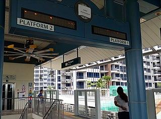 Thanggam LRT station LRT station in Singapore