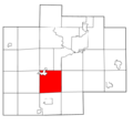 Saginaw County Michigan townships St. Charles highlighted.png