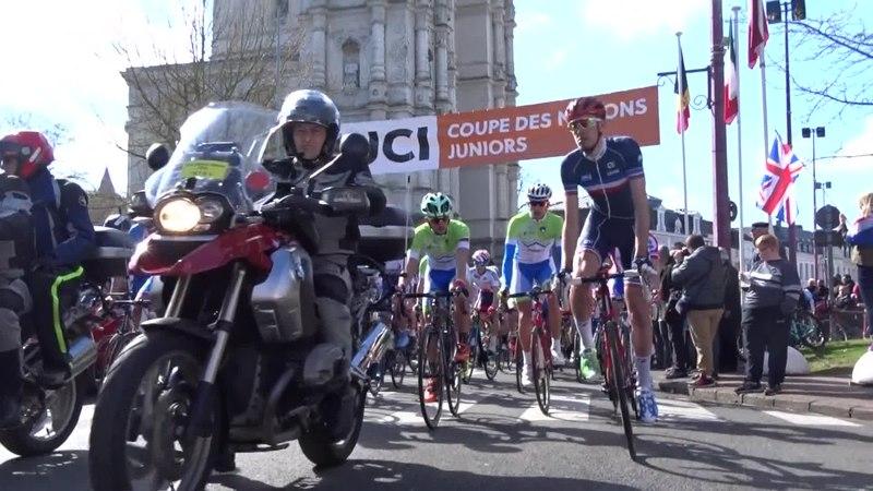 File:Saint-Amand-les-Eaux - Paris-Roubaix juniors, 10 avril 2016, départ (C35A).ogv