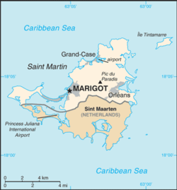 Location of the Collectivity of Saint Martin