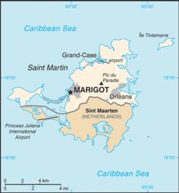 Saint-Martin - Mappa